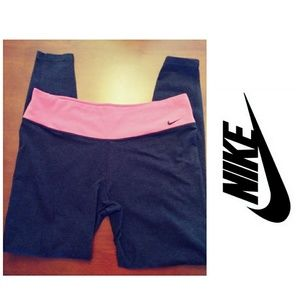 Nike Dri Fit Pink/Gray Leggings, size XL